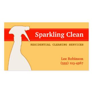 A limpeza presta serviços de manutenção ao cartão cartão de visita