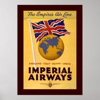 A linha aérea do império pôster