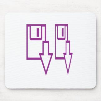 a linha arte do símbolo do divertimento circunda mouse pad