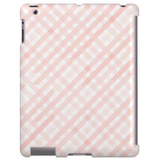 A linha Checkered cor-de-rosa listra a caixa do Capa Para iPad