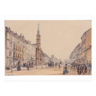 A linha de caçador em Viena por Rudolf von Alt Cartão Postal