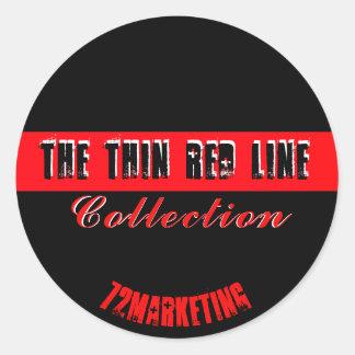 A linha vermelha fina fogo Serviço Coleção da Adesivo