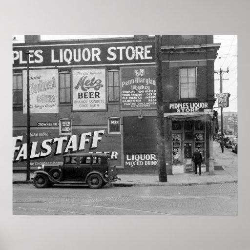 A loja de bebidas do pessoa, 1938
