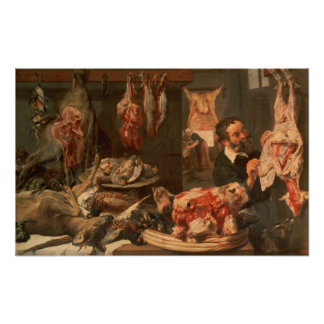 A loja de carniceiro pôsteres