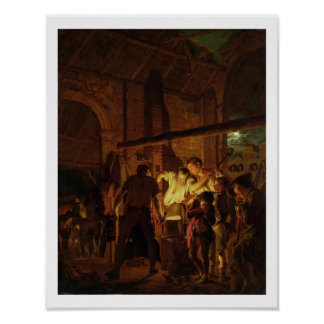 A loja do ferreiro (óleo em canvas) poster
