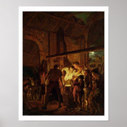 A loja do ferreiro (óleo em canvas) posters