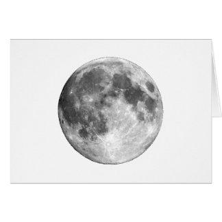A LUA da TERRA do PLANETA (sistema solar) ~~.png Cartão Comemorativo