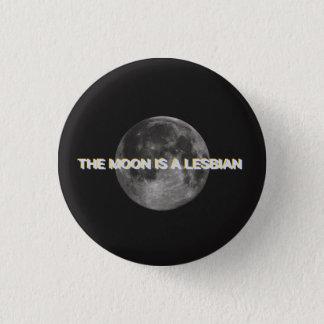 A lua é um botão lésbica bóton redondo 2.54cm