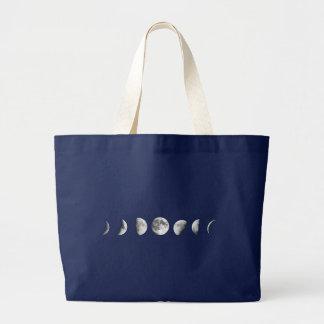 A lua legal pôr em fase o bolsa enorme