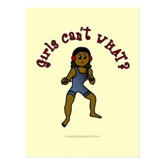 A luta das mulheres escuras cartão postal