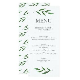 """A luxúria sae do menu elegante do casamento da convite 10.16"""" x 23.49cm"""