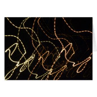 A luz abstrata arrasta o cartão