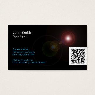 A luz alarga-se cartão de visita do psicólogo