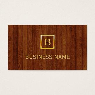 A madeira real listra o cartão de visita do