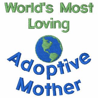 A maioria de camisa bordada Loving da mãe adoptiva
