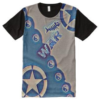 A maioria de estrela popular de Yin Yang do tempo Camisetas Com Impressão Frontal Completa