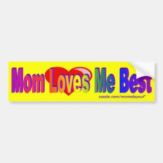 A mamã ama-me o melhor autocolante no vidro trasei adesivo para carro