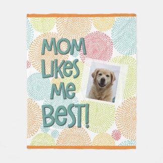 A mamã gosta de me a melhor cobertura da foto do cobertor de lã