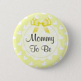 A mamãe a ser arco e bebê amarelos Ducks o botão Bóton Redondo 5.08cm