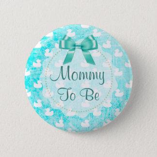 A mamãe a ser arco e bebê da cerceta Ducks o botão Bóton Redondo 5.08cm