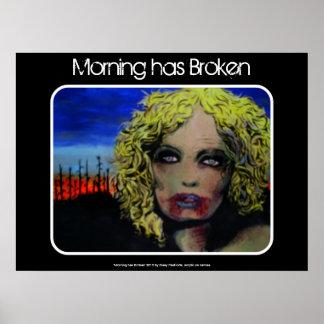 """A """"manhã quebrou"""" o poster do zombi pôster"""