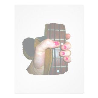 a mão fêmea que guardara o pescoço baixo de corda panfletos personalizados