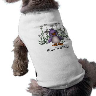 A margarida personalizada do pássaro floresce camiseta