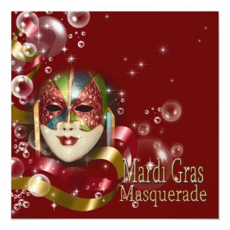 A máscara do carnaval do mascarada PERSONALIZA Convites