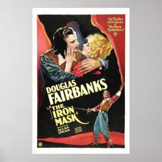 A máscara do ferro - cartaz cinematográfico 1929 d impressão