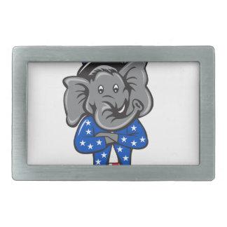 A mascote republicana do elefante arma C ereto