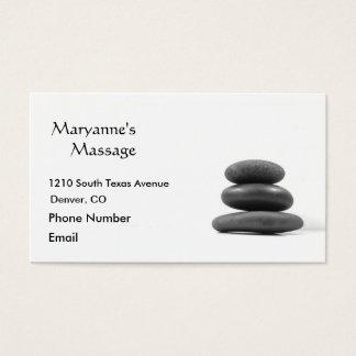 A massagem apedreja a foto cartão de visitas