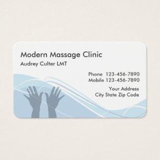 A massagem presta serviços de manutenção a cartões