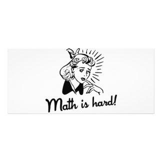 A matemática é dura 10.16 x 22.86cm panfleto