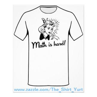 A matemática é dura flyer 11.43 x 14.22cm