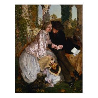 A medida para a aliança de casamento, 1855 cartão postal