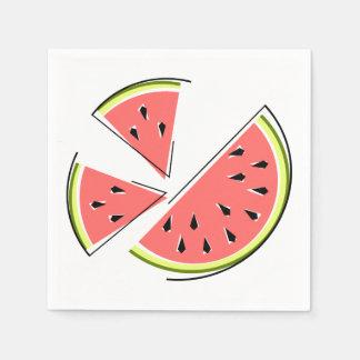 A melancia remenda o papel dos guardanapo