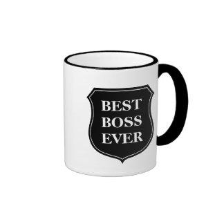 A melhor caneca de café do chefe nunca com citaçõe