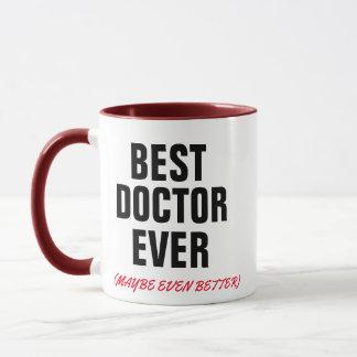 a melhor caneca engraçada médica do doutor sempre