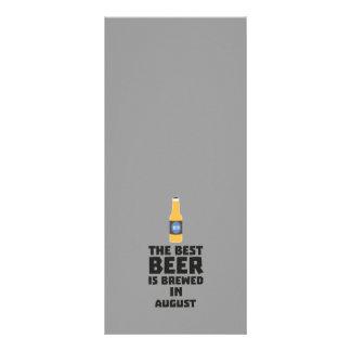 A melhor cerveja é em agosto Zw06j fabricado 10.16 X 22.86cm Panfleto