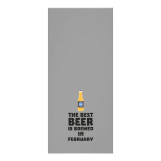 A melhor cerveja é em fevereiro Z4i8g fabricado 10.16 X 22.86cm Panfleto