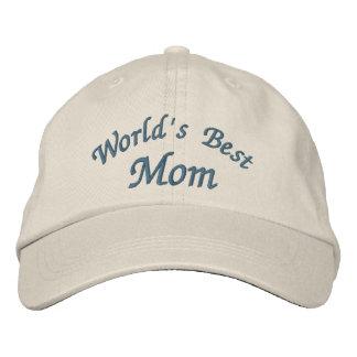A melhor mamã do mundo bonito boné bordado