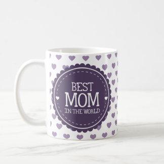 A melhor mamã nos corações e no círculo violetas caneca de café