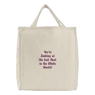 A melhor tia no mundo inteiro bolsas para compras