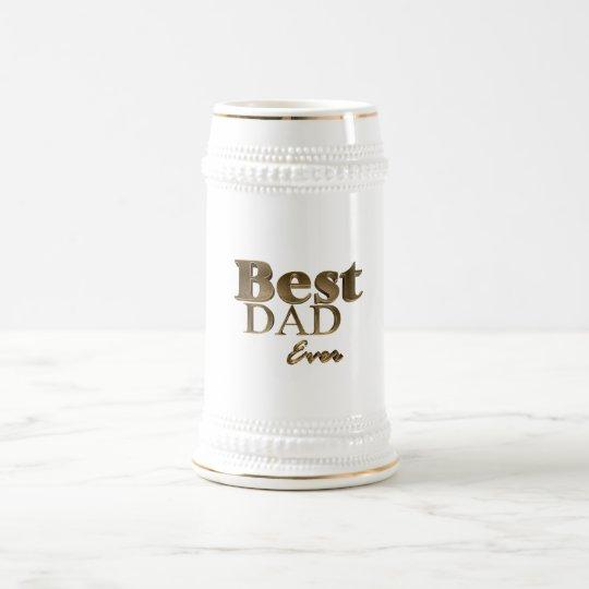 A melhor tipografia dourada sempre elegante do caneca de cerveja