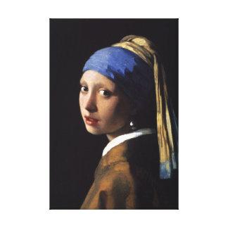 A menina com o brinco da pérola - canvas