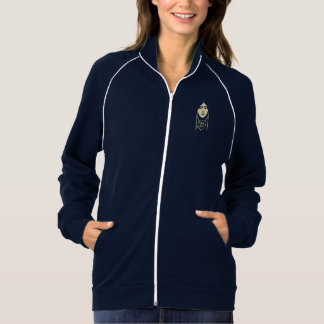 A menina de cabelos compridos do art deco com jaquetas estampadas