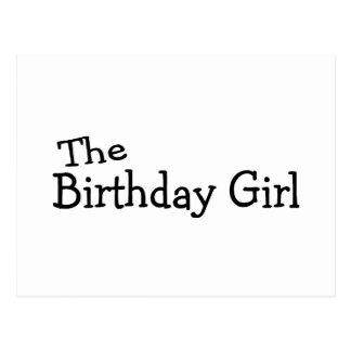 A menina do aniversário cartao postal