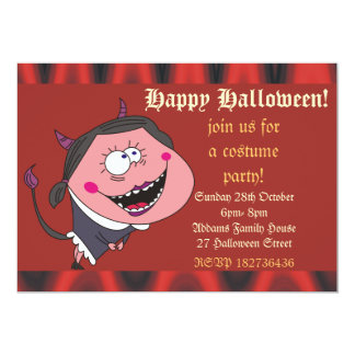 A menina do diabo e o partido engraçados do Dia Convite Personalizado