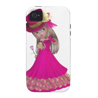 A menina loura que guardara um cor-de-rosa aumento
