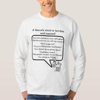 A mente de um liberal tshirt